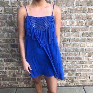 Blue roxy swimsuit coverup